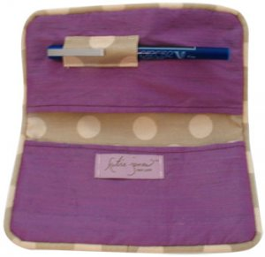 Purple Silk Checkbook/Calendar Cover