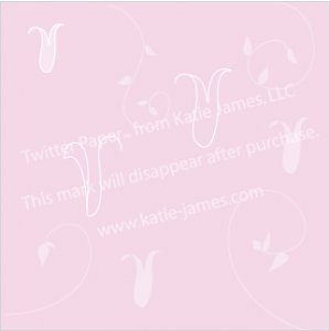 Twitter Paper: Pink Tulips and Vines (twitter background)