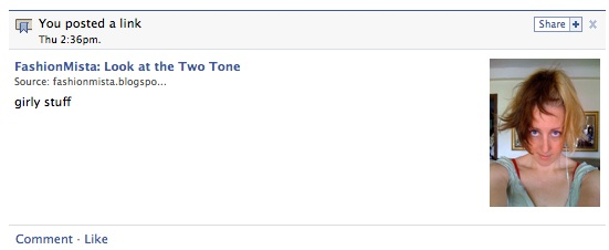 Meta tag displayed in Facebook